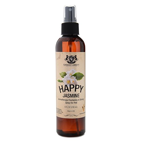 Jasmine Aromatherapy Freshening & Shining Spray For Pets, Dog Grooming Spray & Pet Odor Eliminator - 8 FL OZ (236 mL)