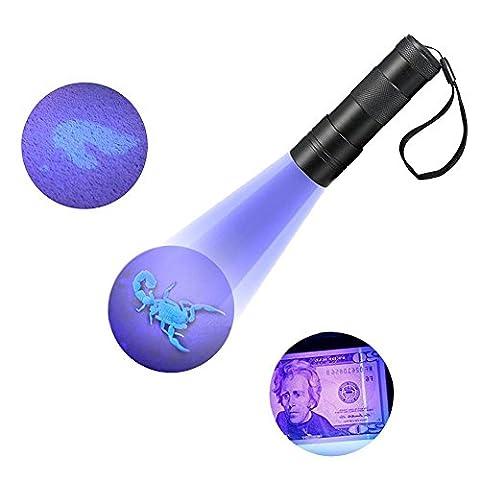 Refoss UV Blacklight Flashlight Pet Dog Urine and Stains Detector Scorpion Hunting Light 12 Ultraviolet LED Light - - Long Wave Uv Lamp