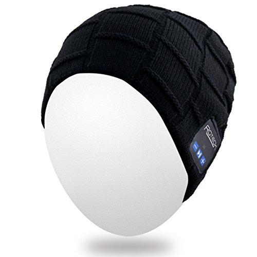 sombrero tejida de Bluetooth del adulta Mydeal suave del hilos auricular del de Bluetooth auricular oído gorrita caliente la alta del unisex moda Gorro Gorrita cubiertas del con Negro Sombrero Mic del Gorra BB029 wTHxHa6qP