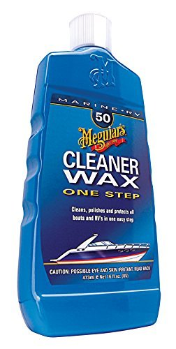 Meguiar's M5016 Marine/RV One Step Cleaner Wax - Liquid - 16 oz. Size: 16 Ounce, Model: M5016, Outdoor&Repair Store