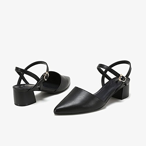 Mary Mujer Zapatos De Bromista Sólido Color Jane Moda DKFJKI Clásico Tacones Altos Zapatos Black yqYSUUaEw