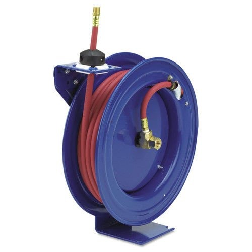 Coxreels P-LP-350 Low Pressure Retractable Air/Water Hose Reel: 3/8'' I.D., 50' Hose Capacity, with hose, 300 PSI, Made in USA by Coxreels