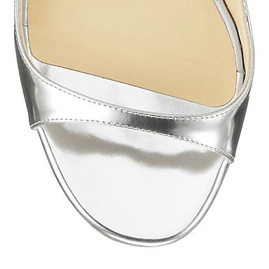 LvYuan Mujer-Tacón Stiletto-Otro-Sandalias-Boda Oficina y Trabajo Vestido Informal Fiesta y Noche-Semicuero-Plata Oro Azul Marino Silver