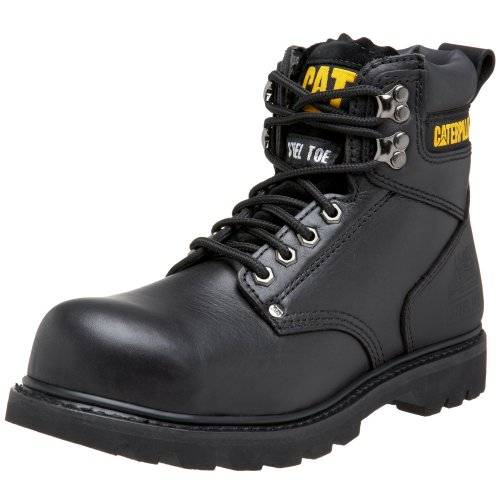 Caterpillar Men's Second Shift Steel Toe Work Boot, Black Full Grain, 12 W US