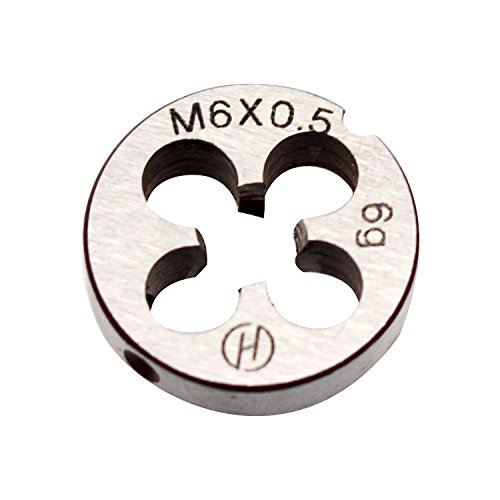 6mm X 0.5 Metric Right Hand Round Die, Machine Thread Die M6 X 0.5mm Pitch by KMIAN TOOLS