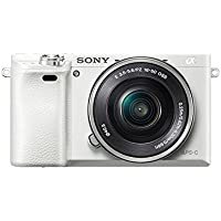 Sony Alpha a6000 Mirrorless Digital Camera with 16-50 mm Lens, 24 MP (White)