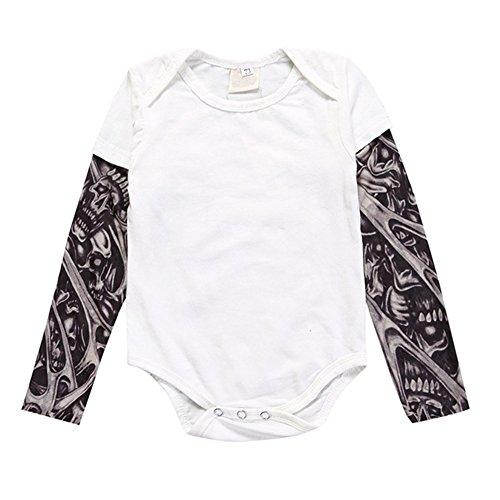 7da7616020a9 Meijunter Familie Erwachsene Kind Infant Strampler Kleinkind Druck T-Shirt  Casual Langarm Tattoo Kleidung Säuglingsart4