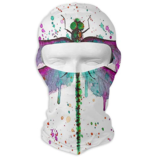 Balaclava Beautiful Dragonfly Full Face Masks UV Protection Ski Hat Mask Motorcycle Hood For Cycling Hiking Women Men (Driver Headcover Dragon)