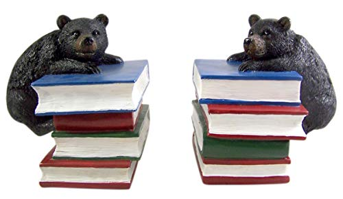 Black Bear Decorative Bookends 6 1/4 Inch