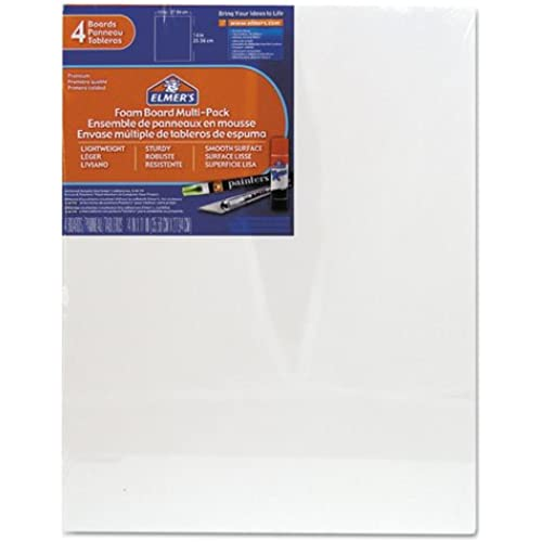 Elmers/X-Acto 950021 Foamboard, 11-Inch x 14-Inch, White, 4-Pack