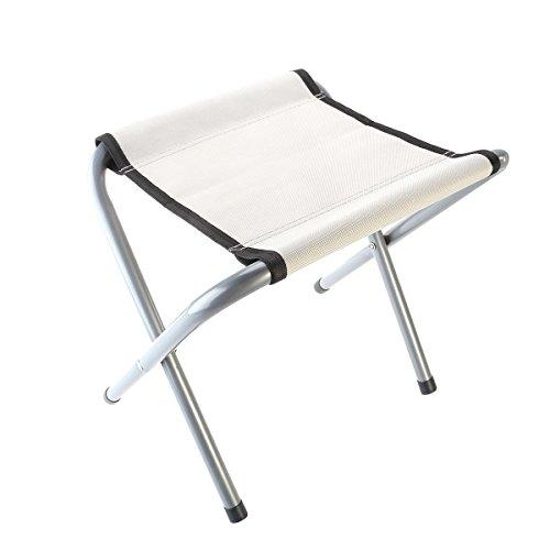 WINOMO Small Folding Chair Camping Stool Furniture Stool Camping Travel Stool (White)
