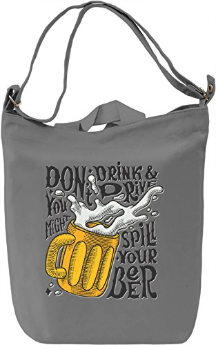 Don't drink and drive Borsa Giornaliera Canvas Canvas Day Bag| 100% Premium Cotton Canvas| DTG Printing|