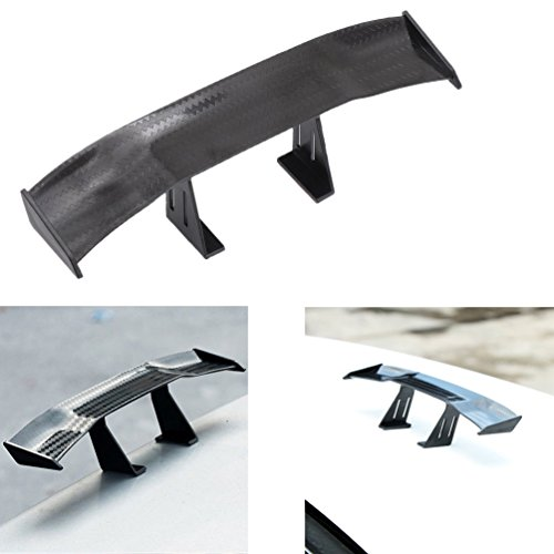 1 Pcs Mini Spoiler Auto Car Tail Decoration Spoiler Wing Carbon Fiber By ()