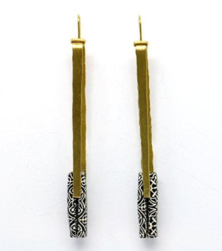 Longues boucles d'oreille Motifs noir et blanc - Tegumenti
