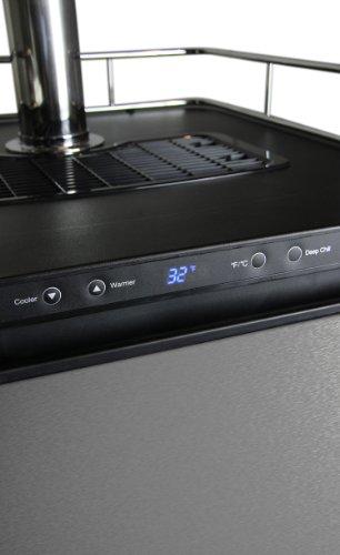 Kegco Kegerator Digital Beer Keg Cooler Refrigerator - Dual Faucet - D...