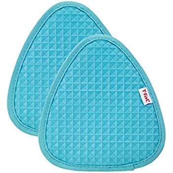 T-fal Textiles 34318 Waffle Softflex Silicone Pot Holder, 2 Pack, Breeze