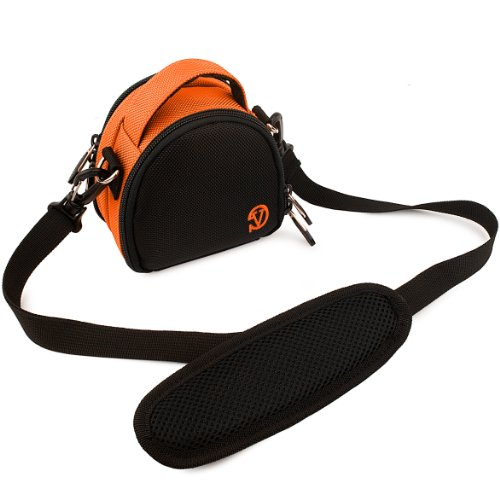 VanGoddy Mini Laurel Carrying Bag for Nikon Coolpix AW130 Digital Cameras (Orange)