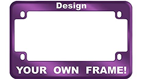Amazon.com: MOTORCYCLE Custom Anodized Aluminum License Plate Frame ...