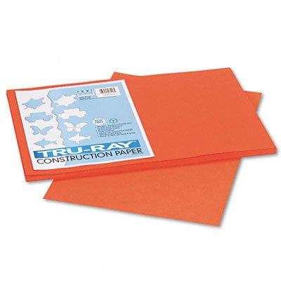 Tru-Ray Construction Paper, 76 lbs., 12 x 18, Pumpkin, 50 -