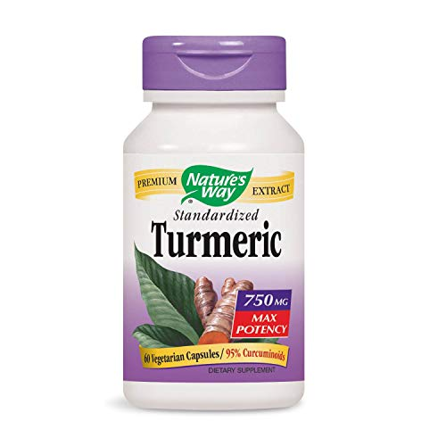 Nature's Way Standardized Turmeric; 95% Curcuminoids; TRU-ID Certified; 60 VCaps (Packaging May Vary)