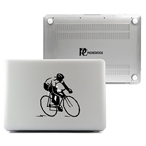 PhoneTatoos - Cycling Clear/ Transparent Plastic Hard Case Cover for Macbook Pro RETINA 13'' (Model: A1502 or A1425) by EMP