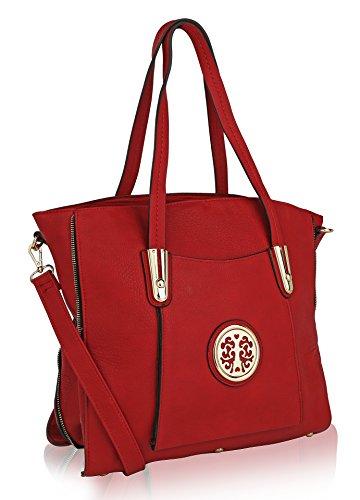 MKF Collection Chloe Shoulder Bag by Mia K Farrow - Chloe Red Leather Handbag