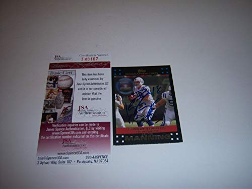 - Peyton Manning Indianapolis Colts Sb Champs. HOFVols JSA Autographed Signed Card - Certified Authentic