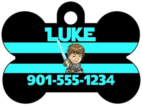 uDesignUSA Disney Star Wars Luke Skywalker Pet Id Dog Tag Personalized w/Name & ()