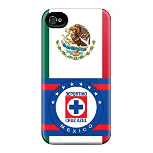 TimeaJoyce Apple Iphone 4/4s Durable Cell-phone Hard Cover Unique Design High-definition Cruz Azul Mexico Image [Eeq24788PiFj]