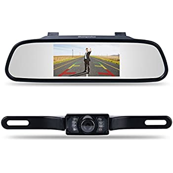 chuanganzhuo 4332965129 4 3 mirror monitor for dvd vcr car reverse camera cmos. Black Bedroom Furniture Sets. Home Design Ideas
