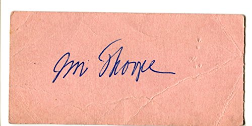 Bulldogs Letter (Jim Thorpe AUTO JSA Authentic 1951 Ticket Cut Autograph w/full Letter Authentication Canton Bulldogs HOF Marlin Texas PeeWee Milk Bowl Sequoyah Vocational vs Thorndale)