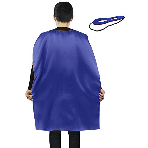 iROLEWIN Superhero Cape Adult Sized Costumes with Mask (110cm) -