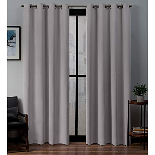 Exclusive Home Curtains Sateen Panel Pair, 52x84, Dusty Lavender