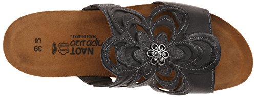 Naot Womens Sandy Leather Sandals Black