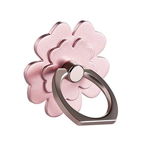 Ring Stand Holder, Creazy 1Pcs Metal Ring Stand Universal Applied Mobile Phone Stand 360 Degree Rotate (Rose Gold)