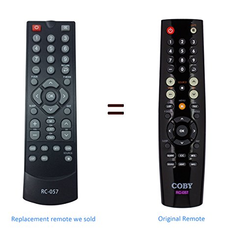 New replaced COBO RC-057 RC 057 Remote Control for COBY TFTV1925 COBY TFTV2225 EDTV1935 TFTV1925 TFTV2225 TFTV2425 TFTV4028 LEDTV3226 LEDTV5536 TFTV3229 LEDTV1935 TFTV1925 TFTV2225 TFTV2425 TFTV4028