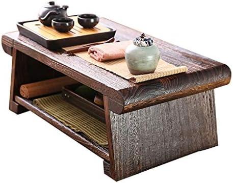 Liucuifang Mesa de Centro Mesa de Madera Maciza Mesa de Tatami de ...