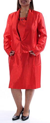 Shawl Collar Sheath (Kasper Plus Textured Shawl-Collar Embellished Dress Suit Set$280)
