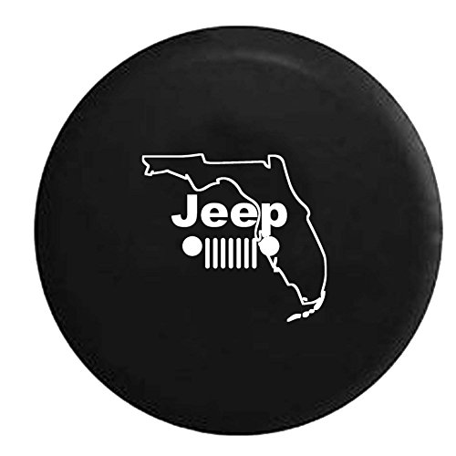 Jeep Grill Florida Beaches Spare Tire Cover