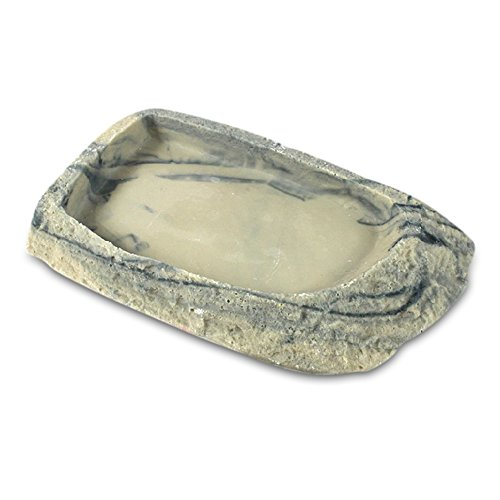 Mable Ruth Reptile and Turtle Feeding Bowl with Low Ramp (Medium) Tortoise Water Dish - Food and Water | Heavy-Duty Resin | Tank Decoration for Lizards and Terrestrial Animals by Mable Ruth (Image #3)