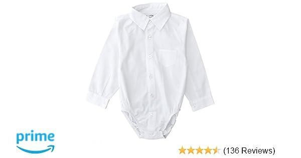 831d11240a7 Amazon.com  Littlest Prince Couture Infant Toddler Dress Shirt Bodysuit   Clothing
