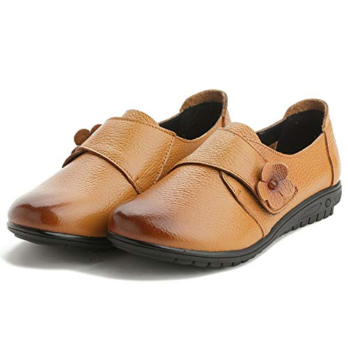 Pisos Velcro Plnxdm Mocasines Yellow Casuales Transpirables Baile Zapatillas De Conducción Zapatos Perezosa Oficina xqqawTIt