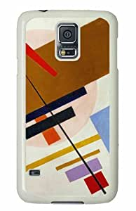 Customized Samsung Galaxy S5 White Edge PC Personalized Suprematism Cover doudou's case