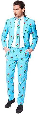 OppoSuits Cannaboss voor herenwordt geleverd met jas broek en stropdas in grappige designs
