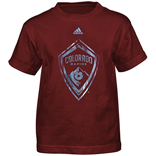 fan products of MLS Colorado Rapids Boys -War Paint Logo Short sleeve Tee, Burgundy, Large (7)