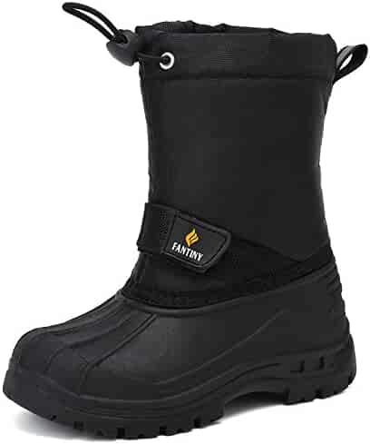CIOR FANTINY Boy and Girls' Winter Snow Boots Outdoor Waterproof With Fur Lined(Toddler/Little Kid/Big Kid)