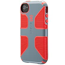Speck Products CandyShell Grip Case for iPhone 4/4S, Nickel Grey/Warning Orange