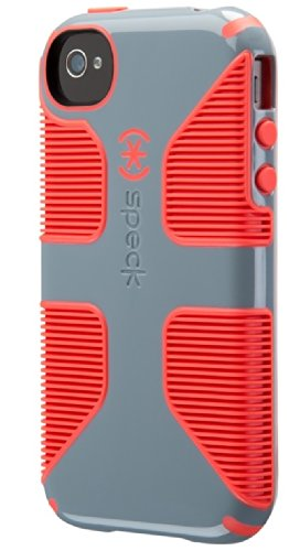 Speck Products CandyShell Grip Case for iPhone 4/4S  - Nickel Grey/Warning Orange (Turquoise Iphone Case 4s)