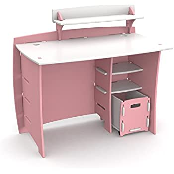 Amazon Com Legare Kids Desk With Hutch 36 Inch Pink And
