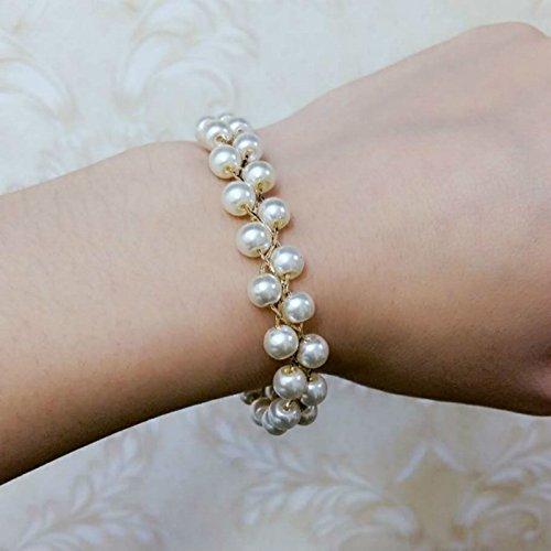 Miao Yu Fang] [18K gold-plated mesh pearl bracelet ()